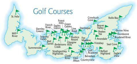 PEI Golf Courses Map